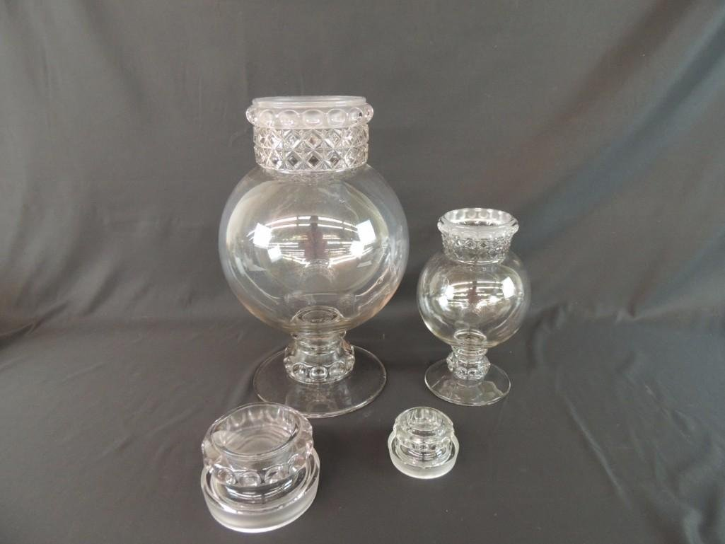 Group of 2 Antique Apothecary Jars - 2