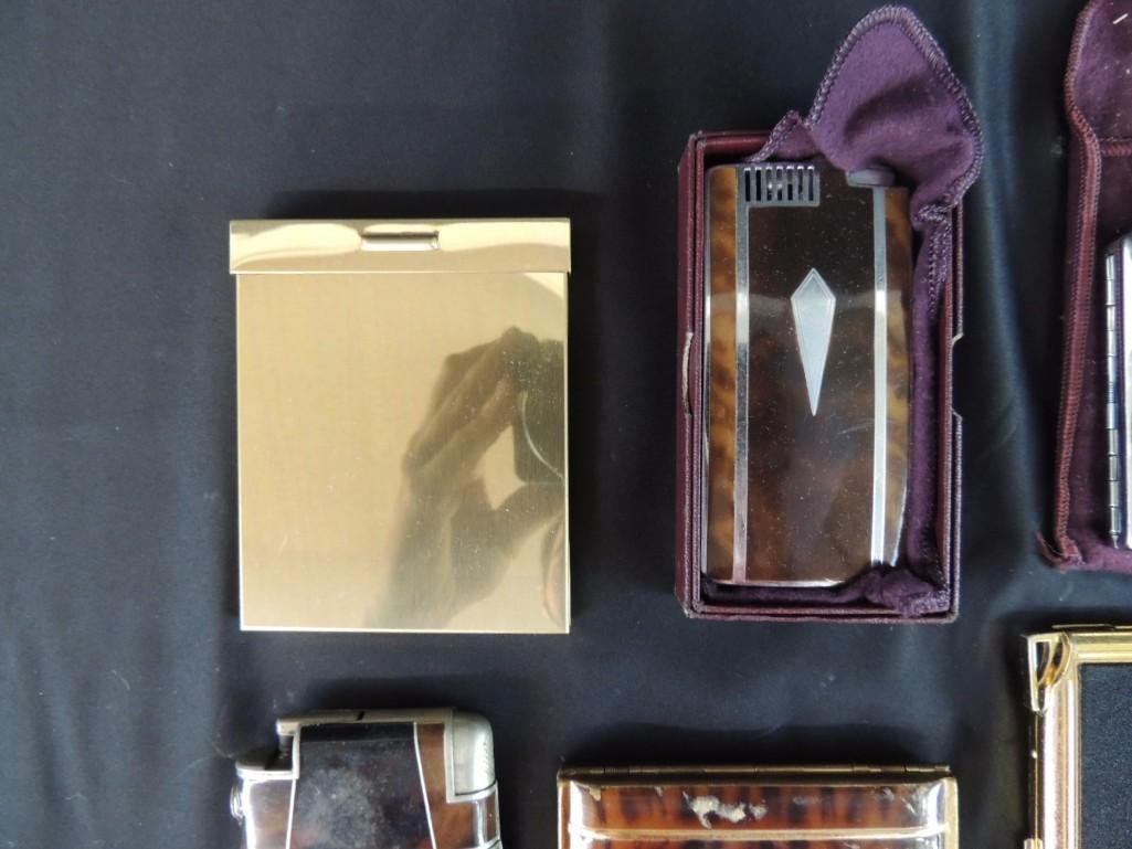 Group of 7 Vintage Cigarette Cases and Lighters - 2