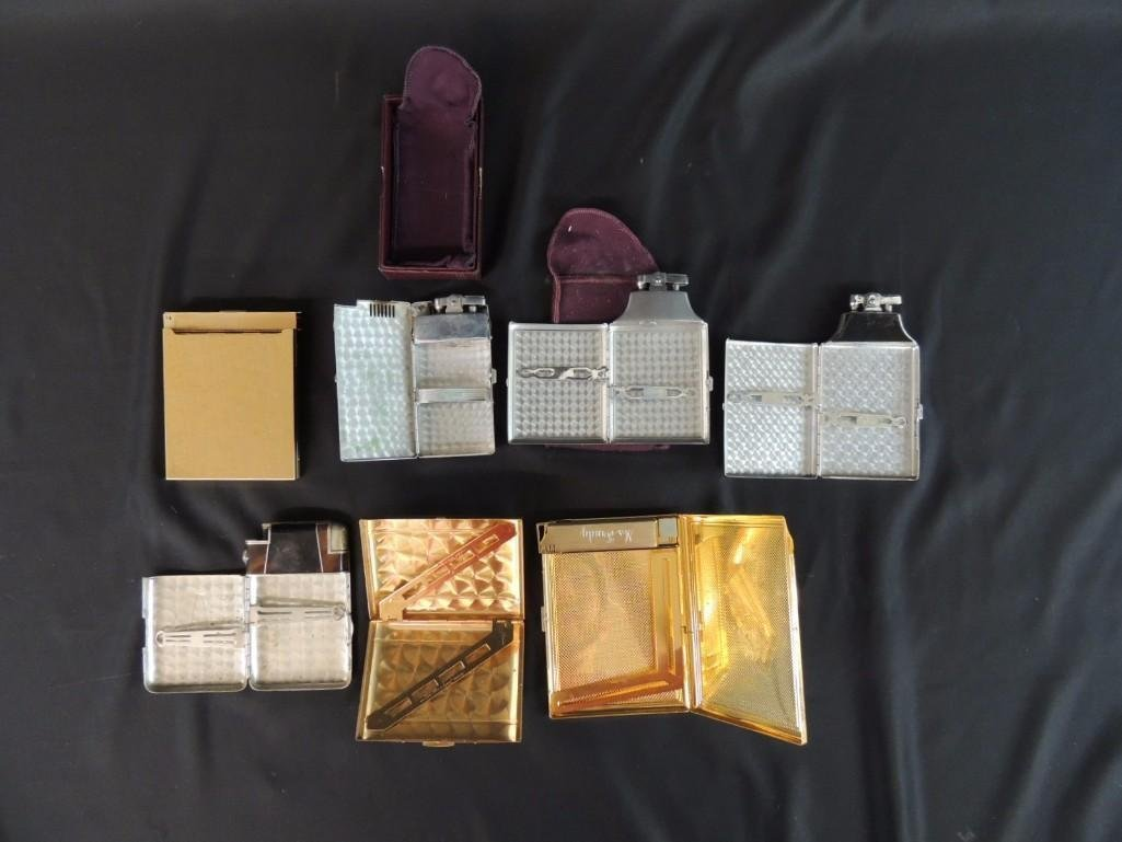 Group of 7 Vintage Cigarette Cases and Lighters - 3