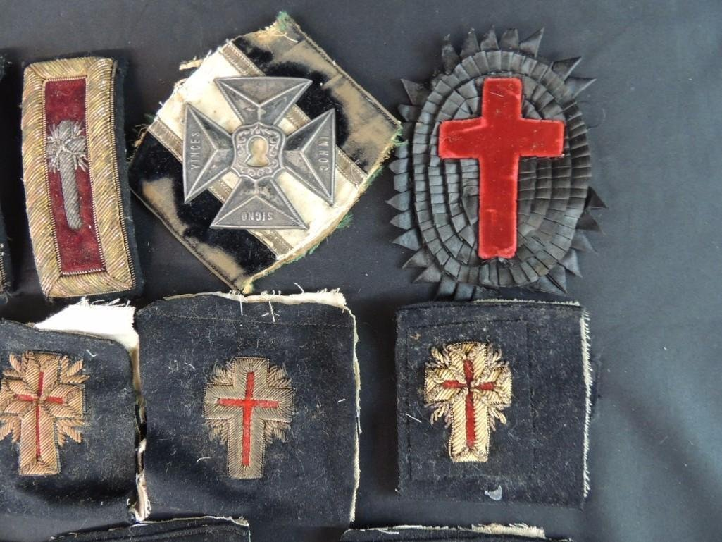 Group of Masonic Patches and Buttons - 2