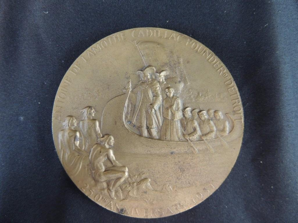 250th Anniversary of Detroit Solid Bronze Table Medal