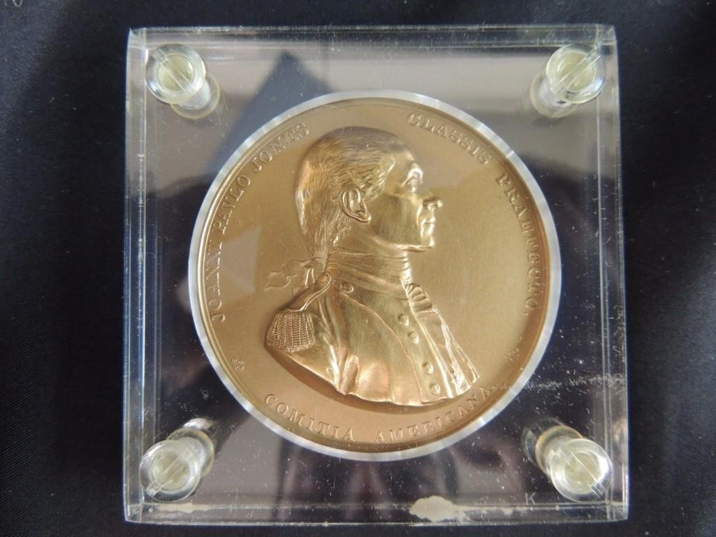 Comitia Americana Joanni Pavlo Jones Solid Bronze Table