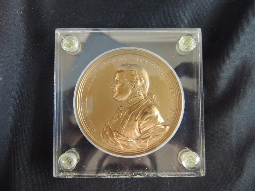Comitia Americana Nathanieli Green Egregio Solid Bronze