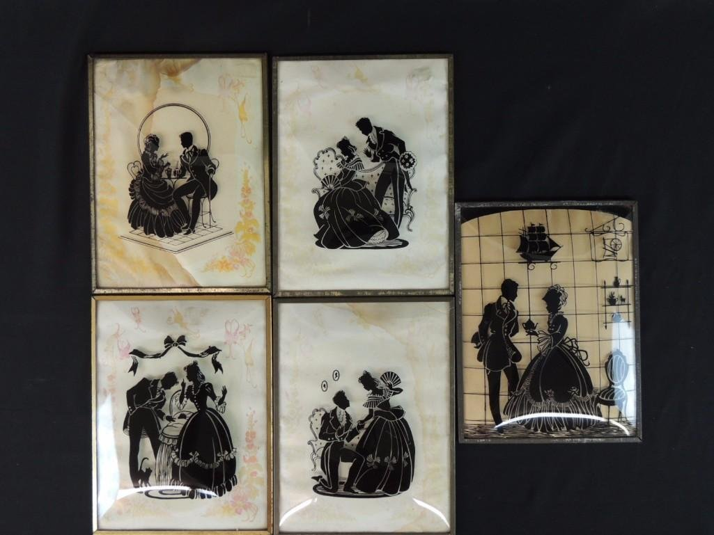 Group of 5 Convex Silhouettes Featuring Couples