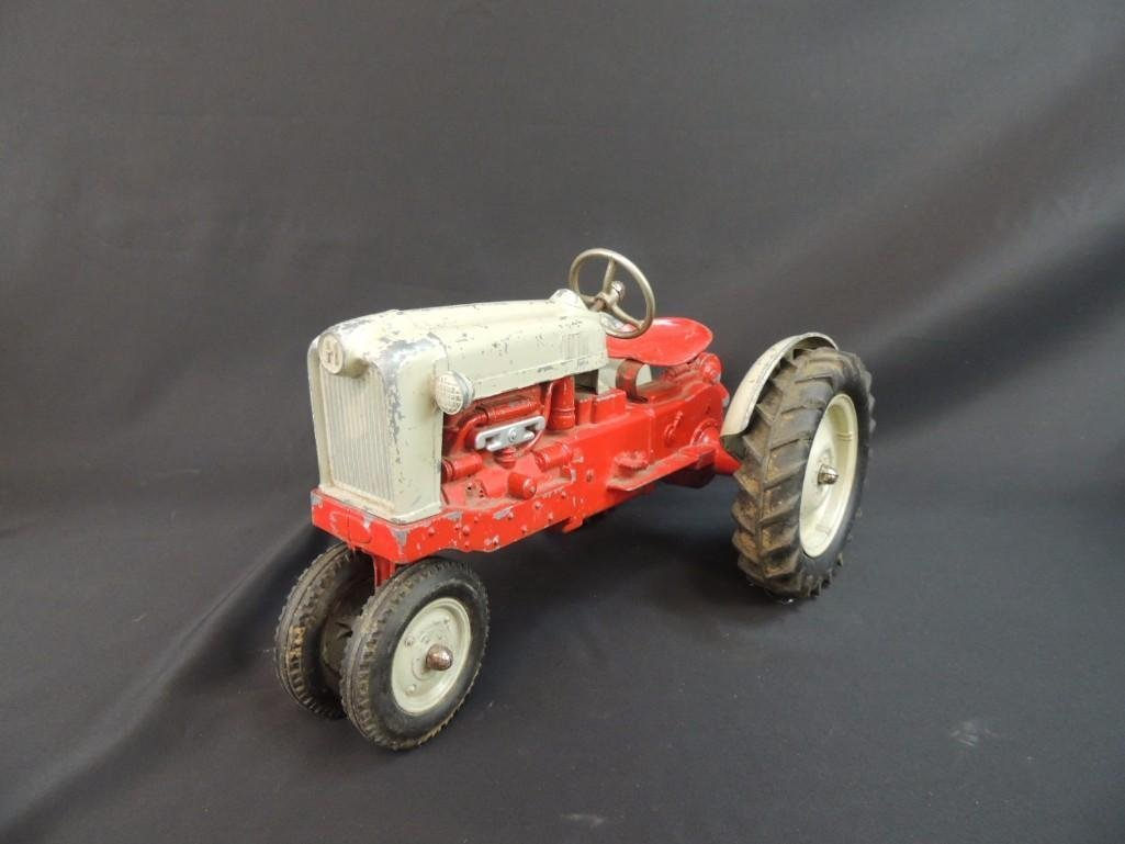 Humbley Kiddie Toy Co. Metal Toy Tractor with Plow