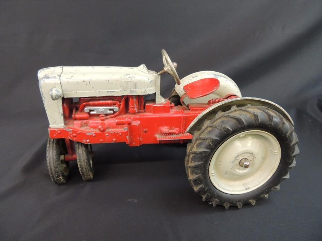 Humbley Kiddie Toy Co. Metal Toy Tractor with Plow - 2