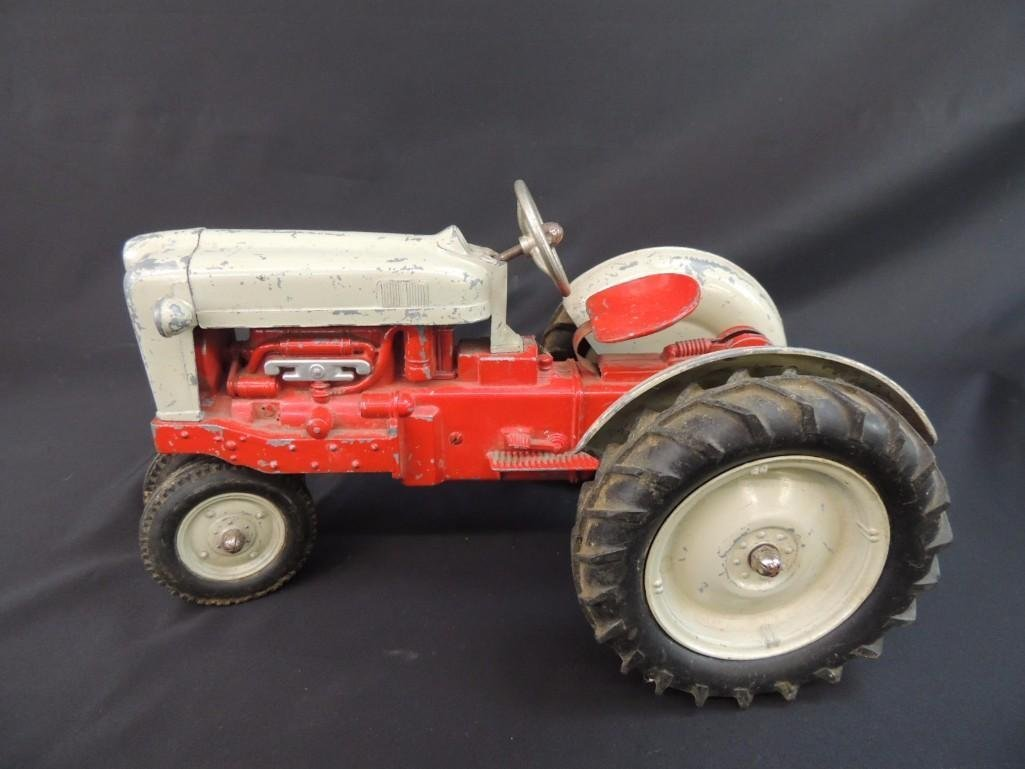Humbley Kiddie Toy Co. Metal Toy Tractor with Plow - 3