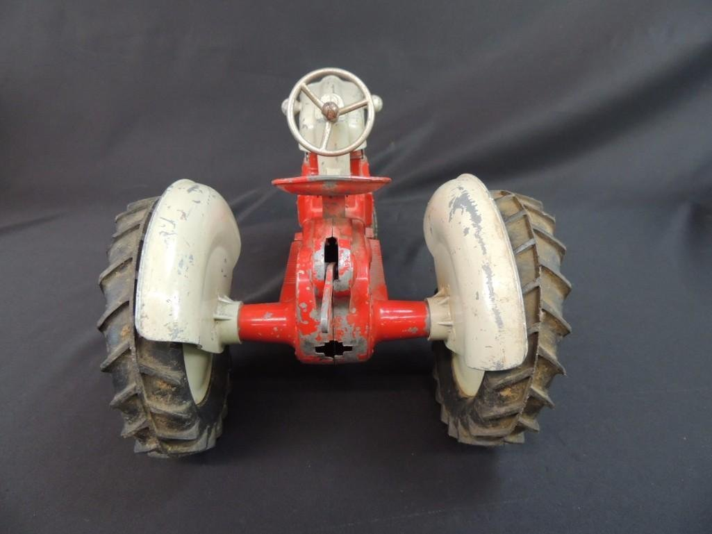 Humbley Kiddie Toy Co. Metal Toy Tractor with Plow - 4