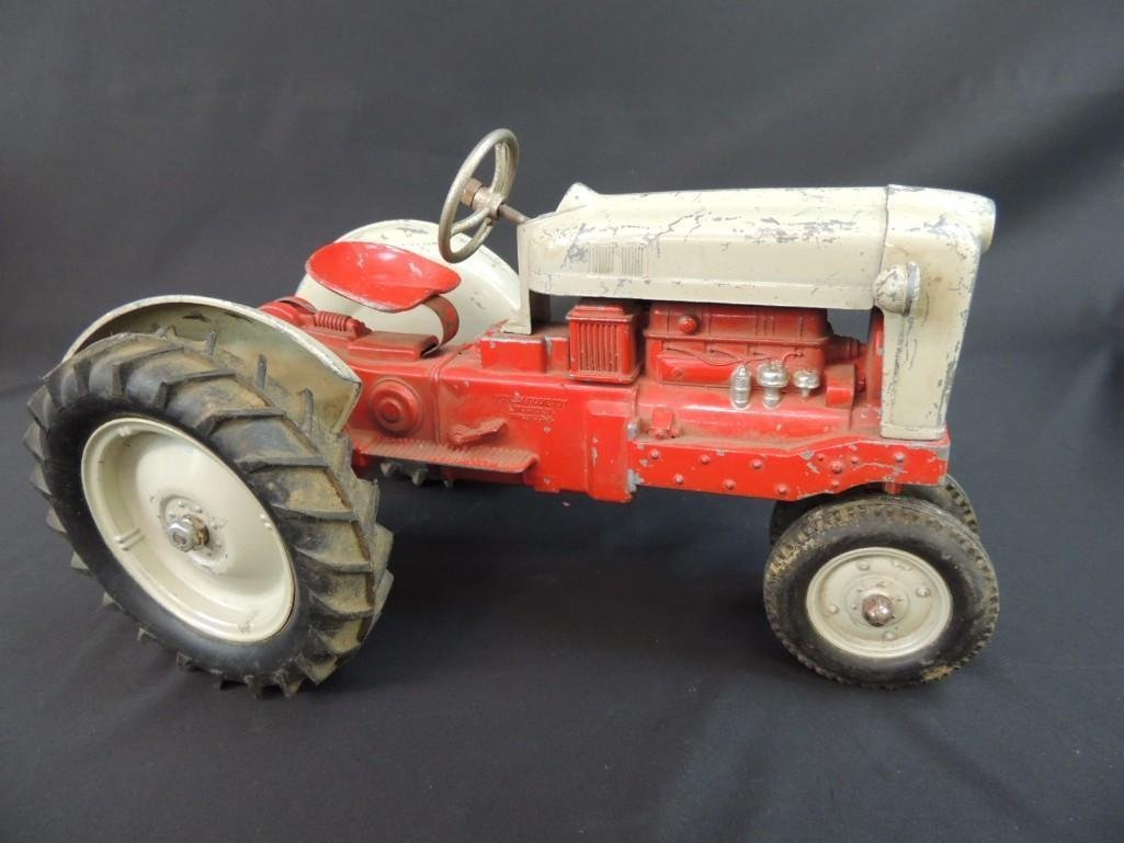 Humbley Kiddie Toy Co. Metal Toy Tractor with Plow - 5