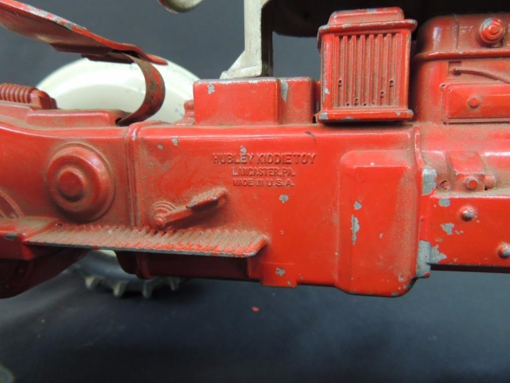 Humbley Kiddie Toy Co. Metal Toy Tractor with Plow - 6