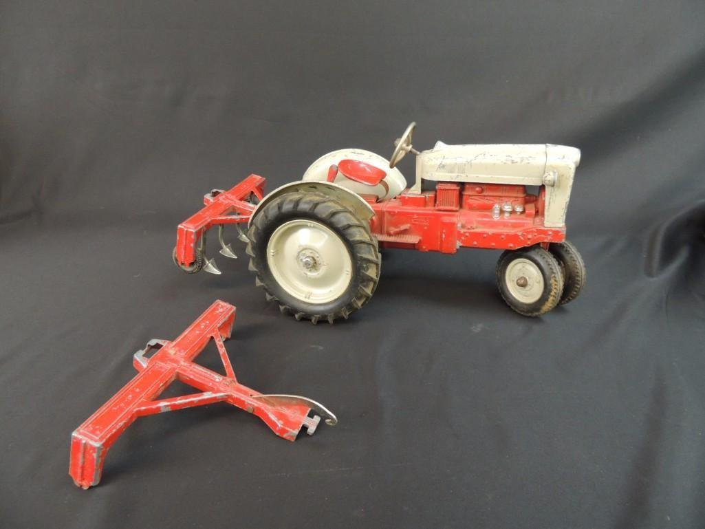 Humbley Kiddie Toy Co. Metal Toy Tractor with Plow - 7