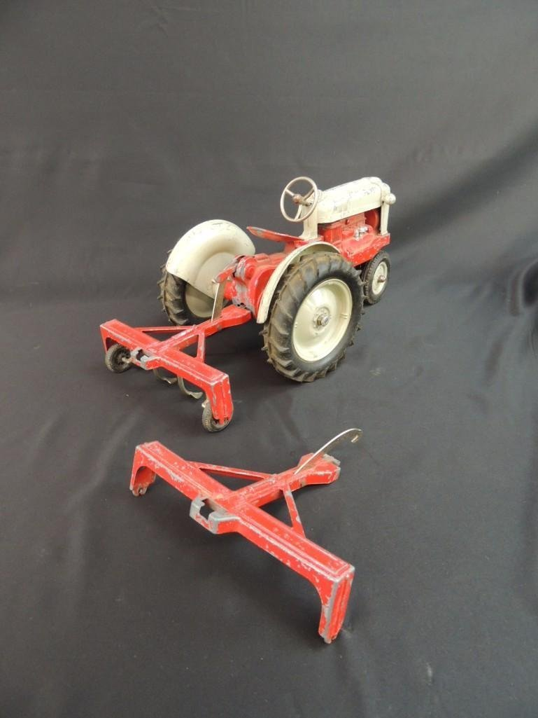 Humbley Kiddie Toy Co. Metal Toy Tractor with Plow - 8