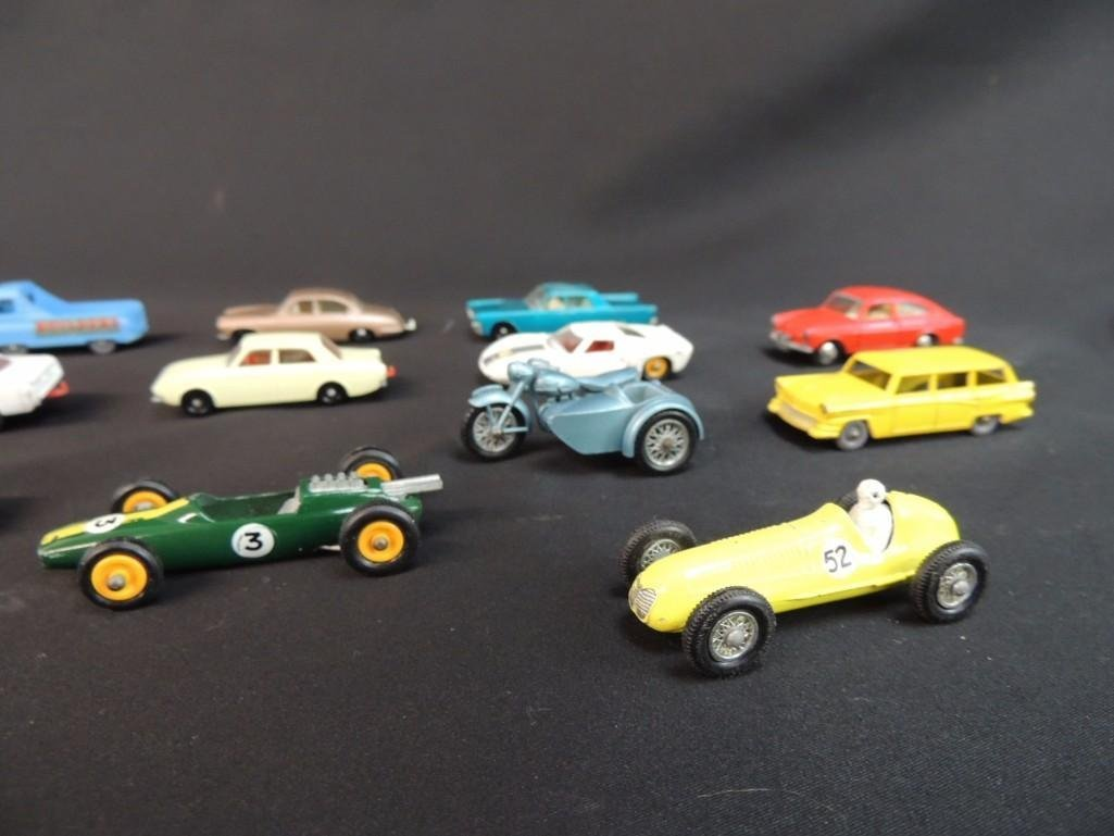 Group of 12 Lesney Metal Toy Cars Featuring Race Cars, - 2