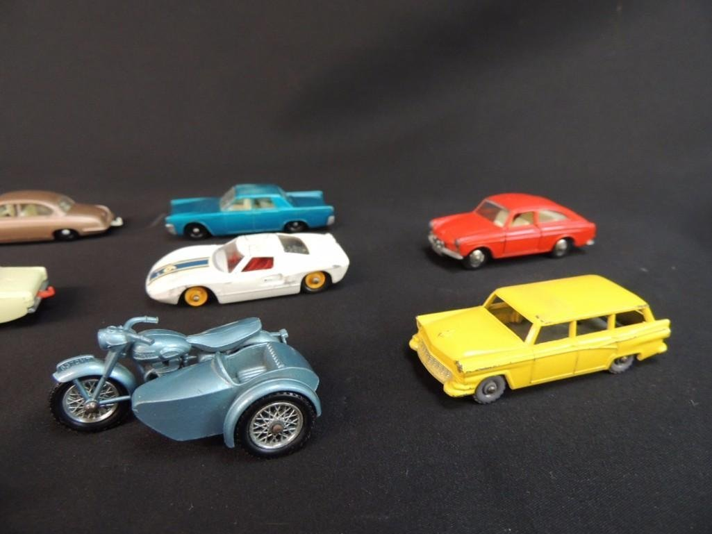 Group of 12 Lesney Metal Toy Cars Featuring Race Cars, - 4