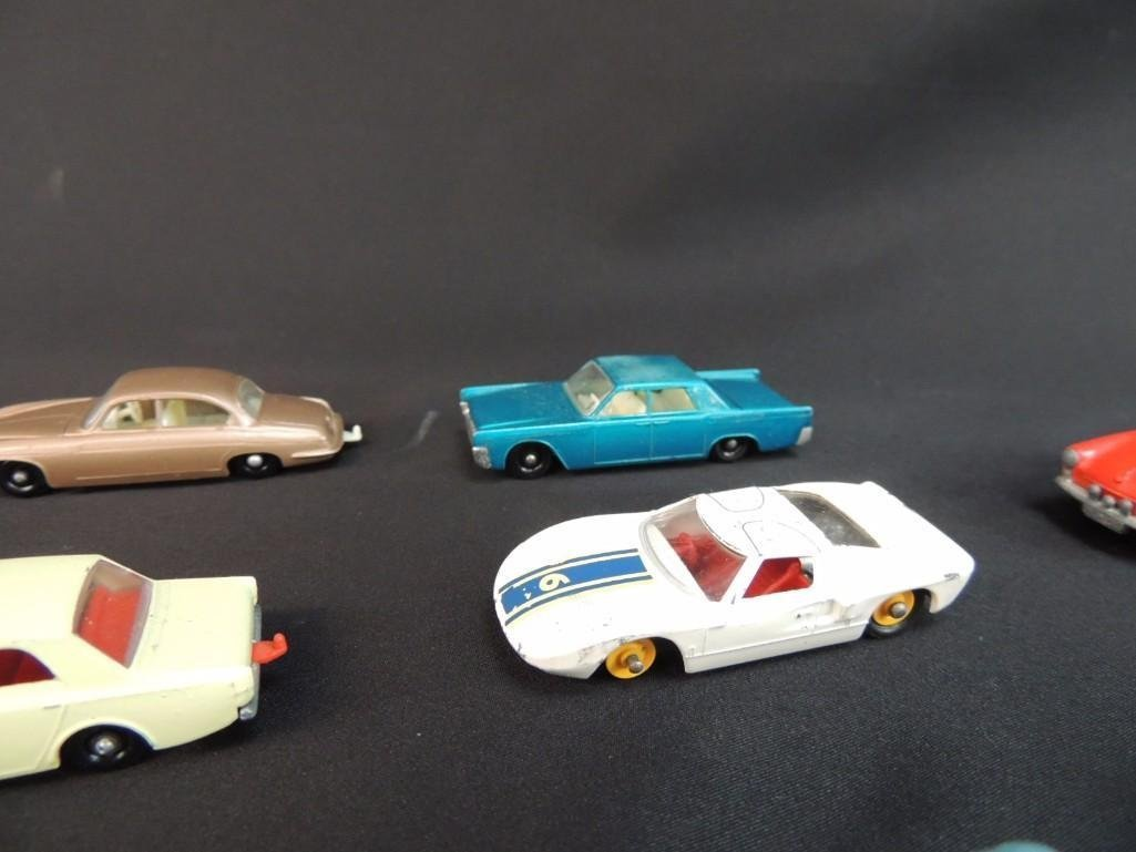 Group of 12 Lesney Metal Toy Cars Featuring Race Cars, - 5
