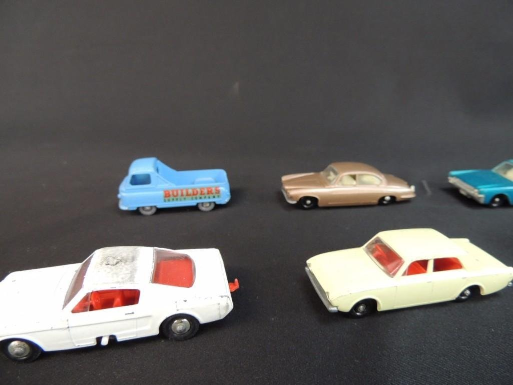 Group of 12 Lesney Metal Toy Cars Featuring Race Cars, - 6