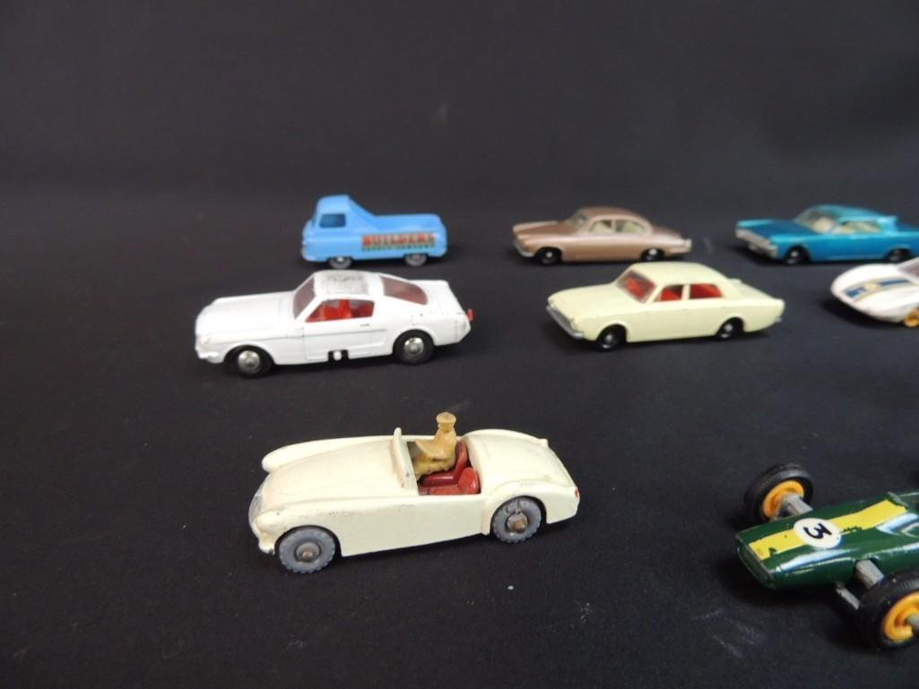 Group of 12 Lesney Metal Toy Cars Featuring Race Cars, - 7