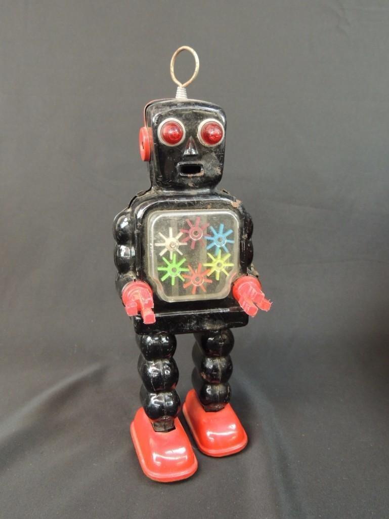 Vintage Metal Robot Toy Made in Japan