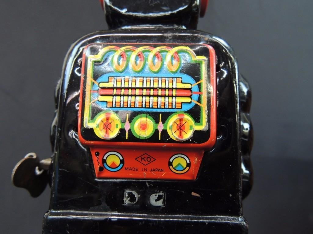 Vintage Metal Robot Toy Made in Japan - 4