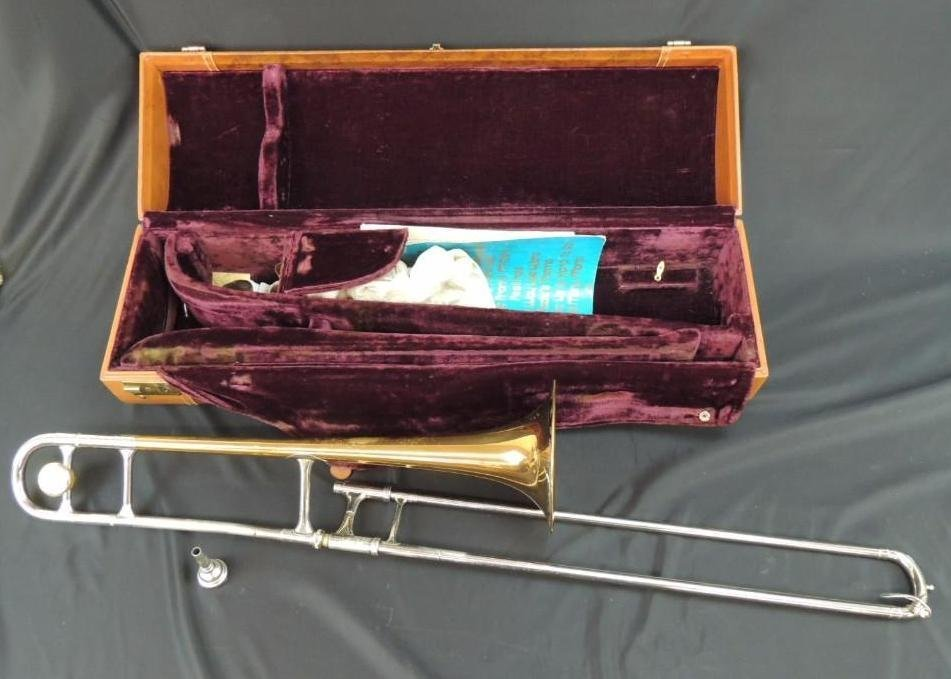 F.E. Olds & Son Super Olds Trombone with Case
