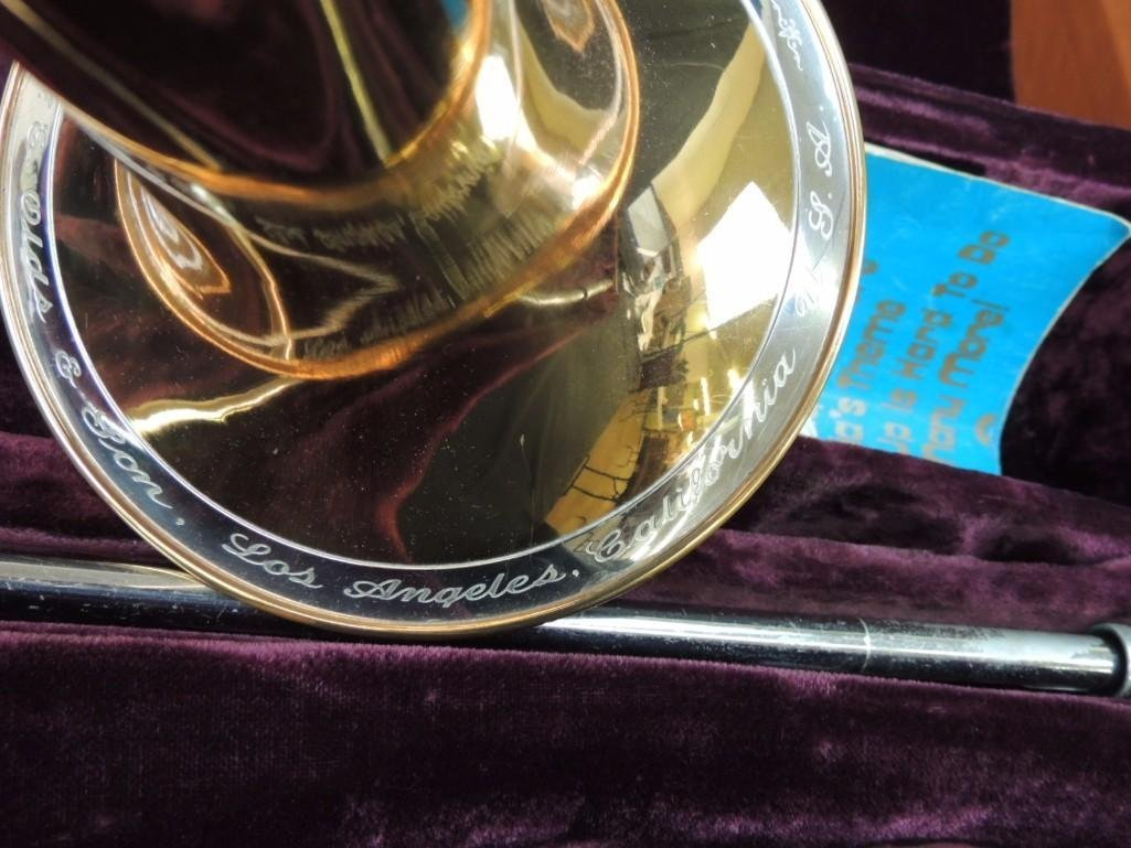 F.E. Olds & Son Super Olds Trombone with Case - 5