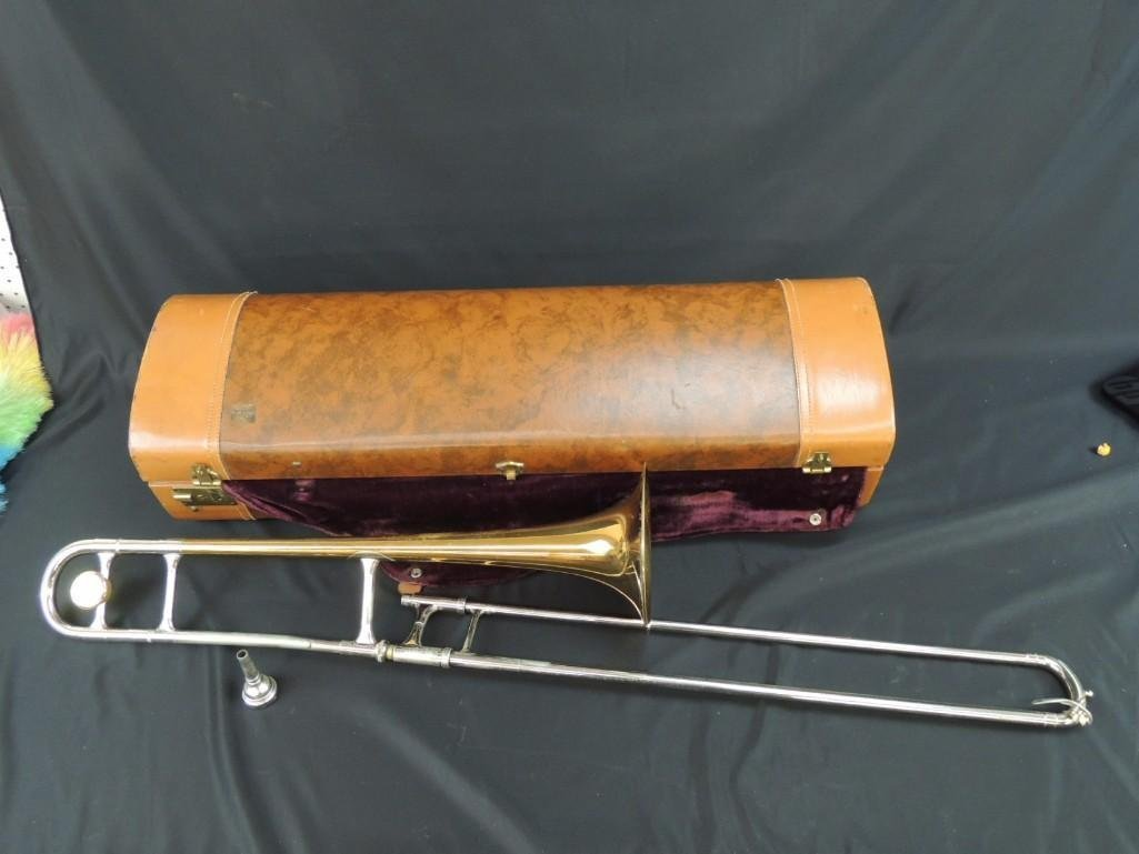 F.E. Olds & Son Super Olds Trombone with Case - 8