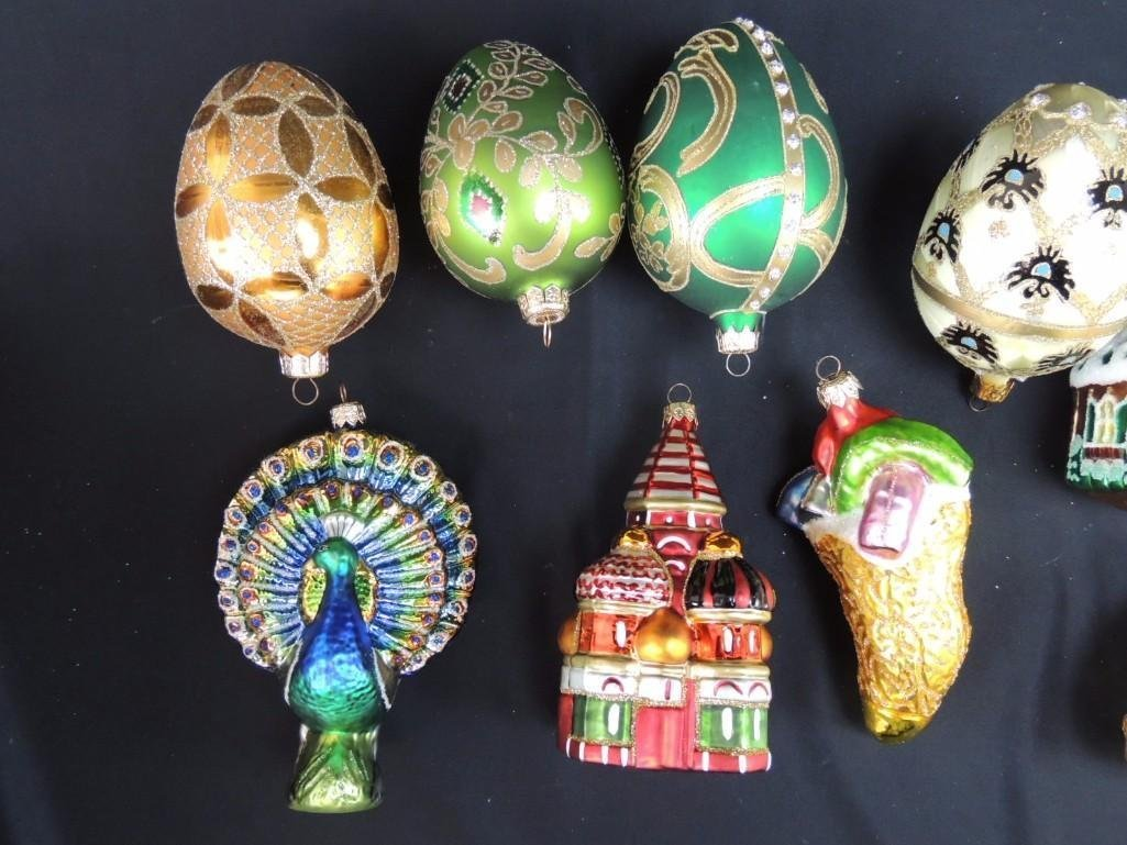 Group of Large Glass Figural Christmas Ornaments - 2
