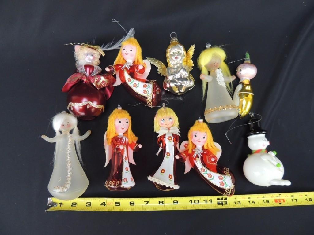 Group of Vintage Figural Mercury Glass Christmas - 2