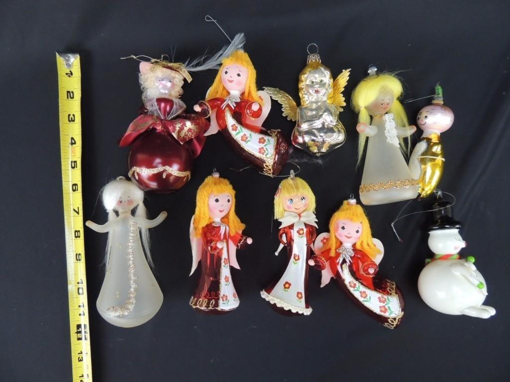 Group of Vintage Figural Mercury Glass Christmas - 3