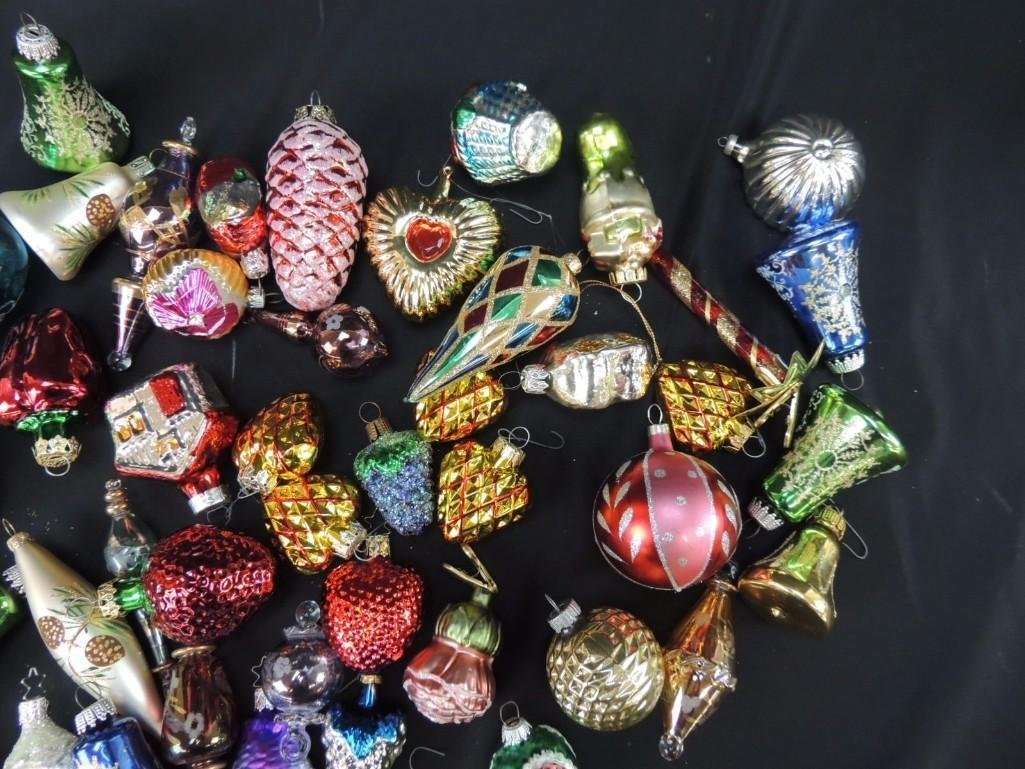 Group of Mercury Glass Figural Christmas Ornaments - 3