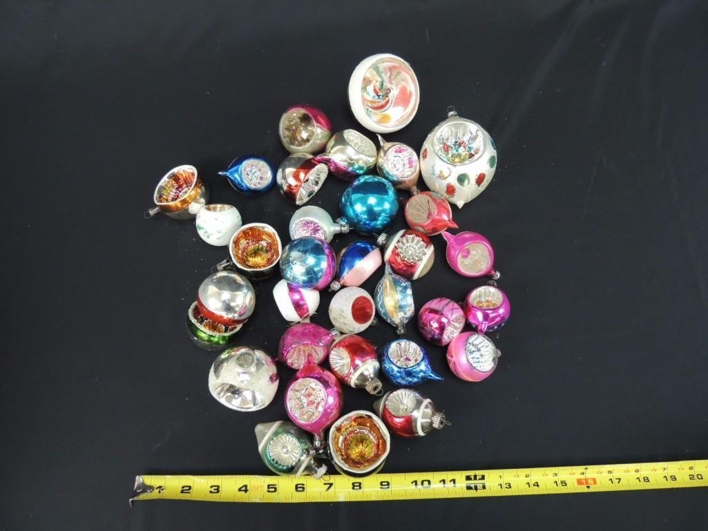 Group of Vintage Reflector Mercury Glass Christmas - 2