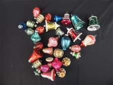 Group of Vintage Mercury Glass Bell Christmas Ornaments