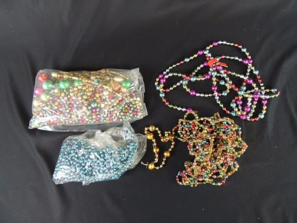 Group of Vintage Mercury Glass Christmas Beads and
