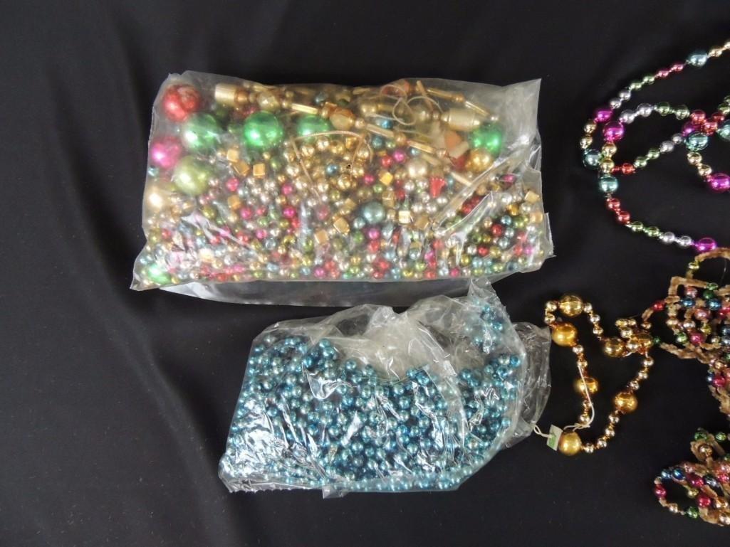 Group of Vintage Mercury Glass Christmas Beads and - 2