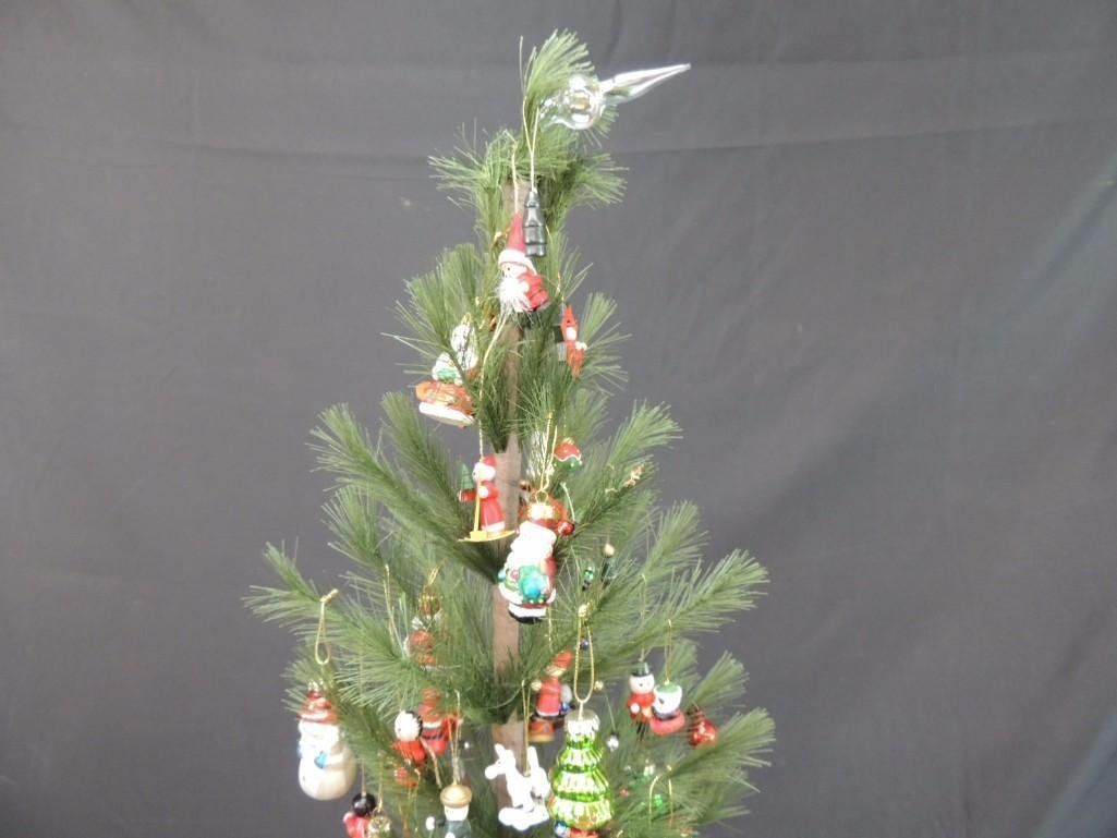 Miniature Christmas Tree Featuring Many Figural Mercury - 2