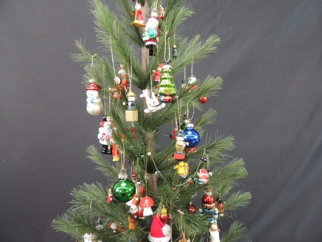 Miniature Christmas Tree Featuring Many Figural Mercury - 3