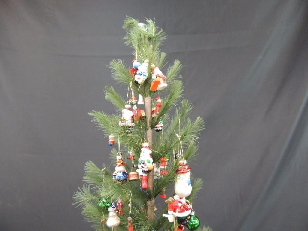 Miniature Christmas Tree Featuring Many Figural Mercury - 8