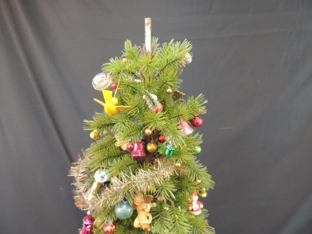 Miniature Christmas Tree Featuring Many Vintage Mercury - 2