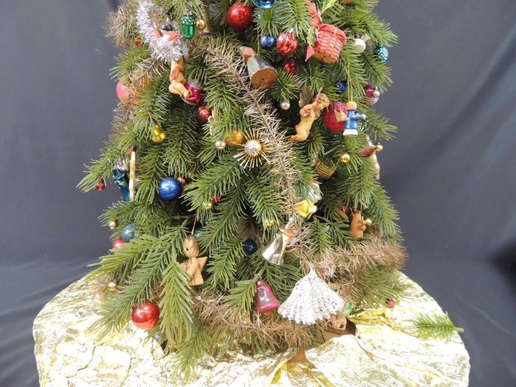 Miniature Christmas Tree Featuring Many Vintage Mercury - 5