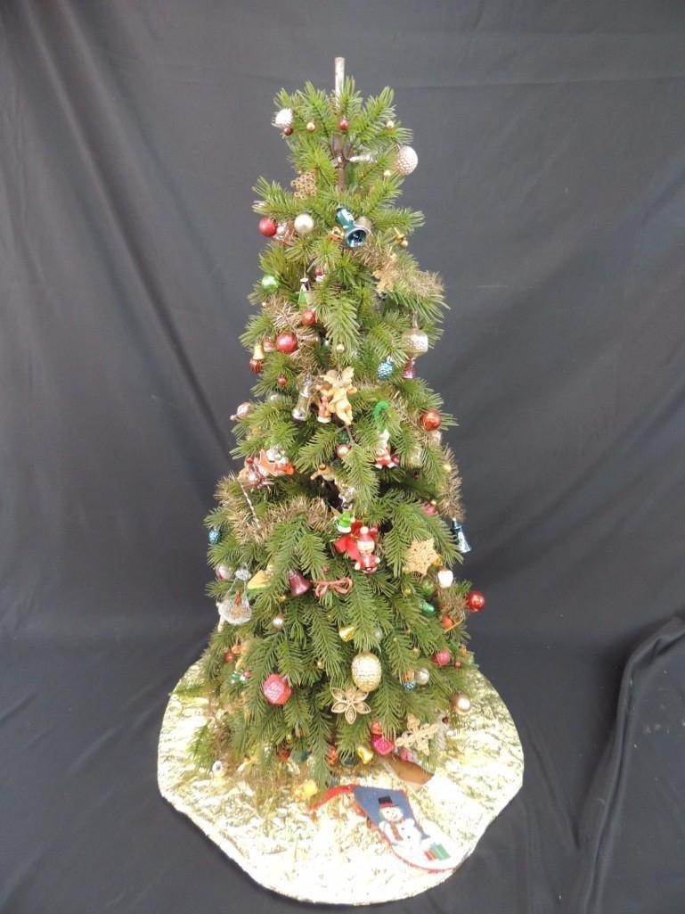Miniature Christmas Tree Featuring Many Vintage Mercury - 6