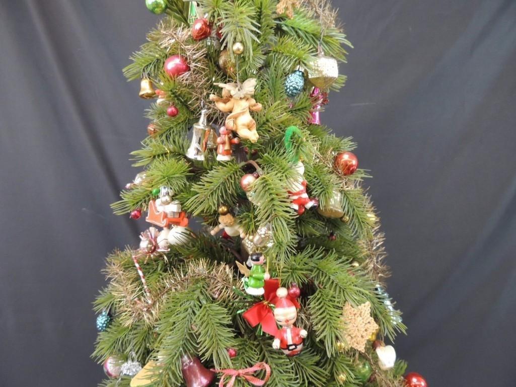 Miniature Christmas Tree Featuring Many Vintage Mercury - 8