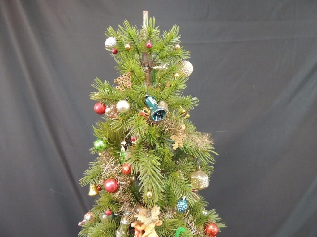 Miniature Christmas Tree Featuring Many Vintage Mercury - 9