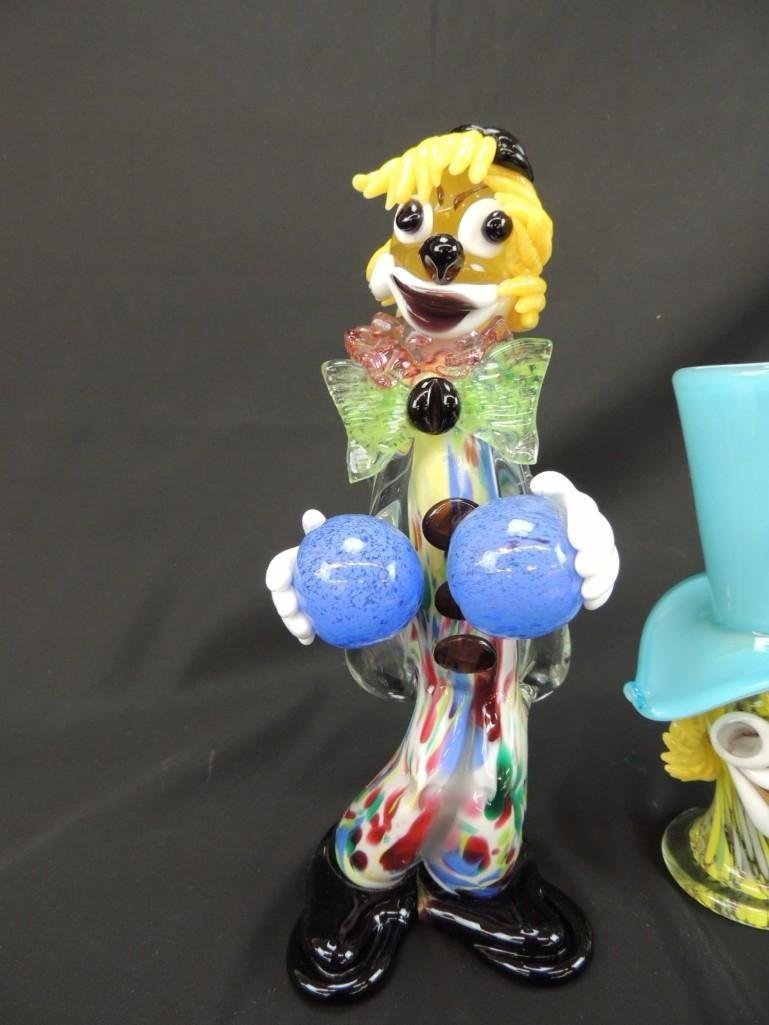 Group of 2 Murano Art Glass Figural Clowns - 2