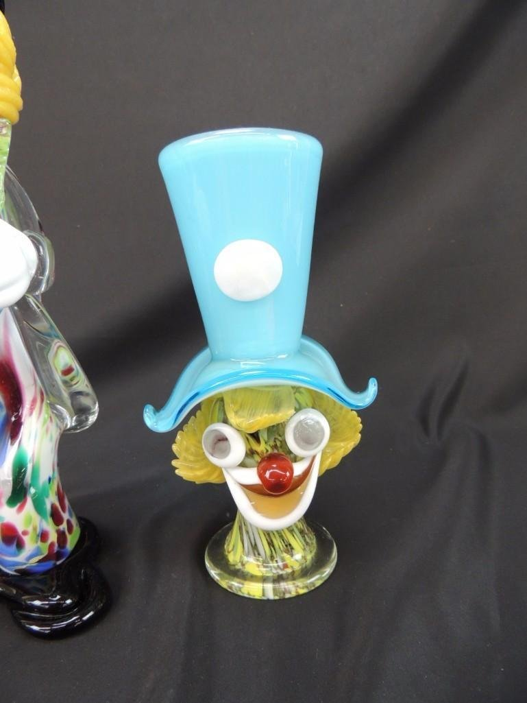 Group of 2 Murano Art Glass Figural Clowns - 3