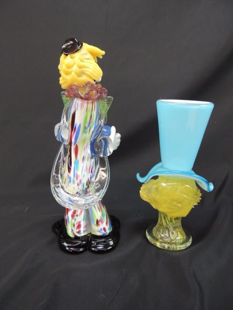 Group of 2 Murano Art Glass Figural Clowns - 4