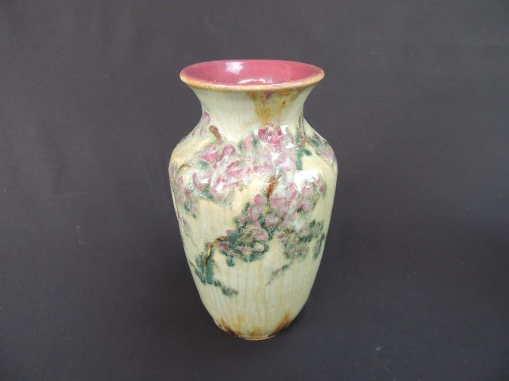 Art Nouveau Art Pottery Floral Pattern Artist Signed