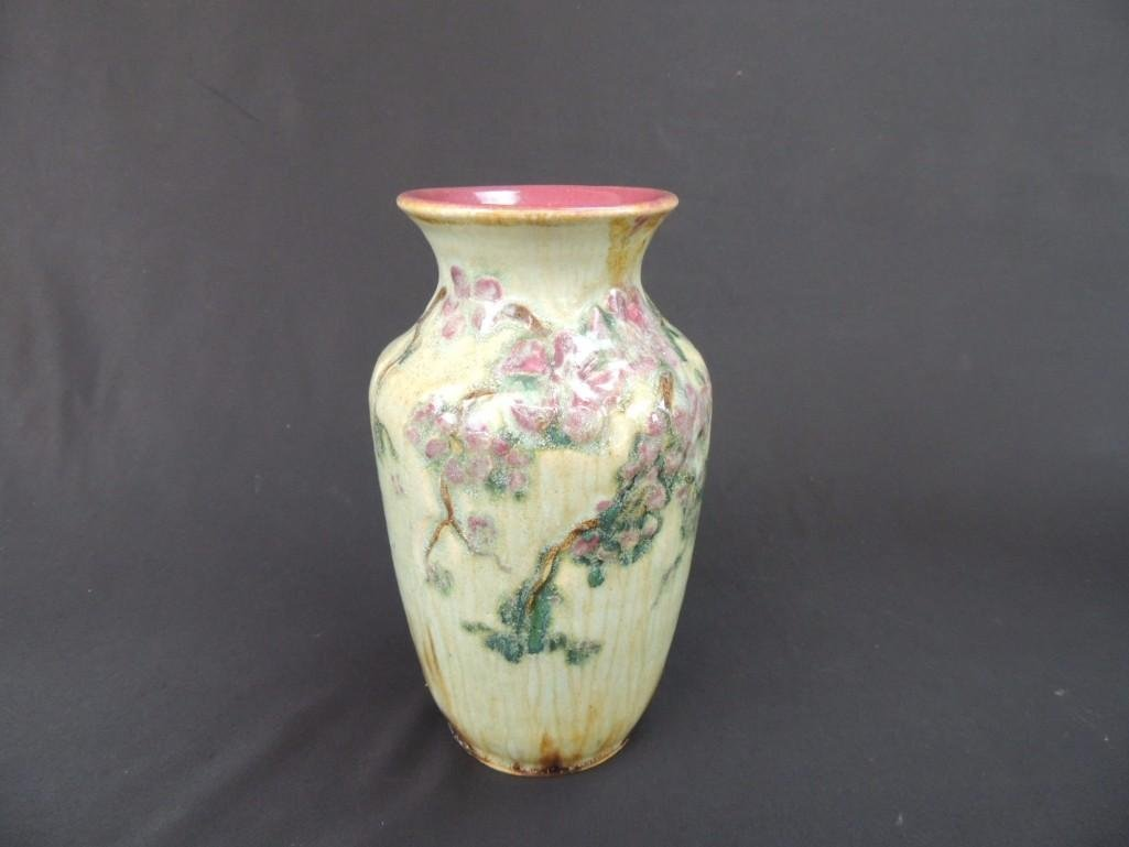 Art Nouveau Art Pottery Floral Pattern Artist Signed - 2