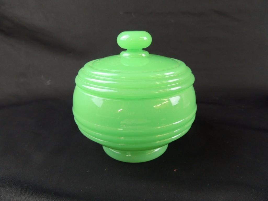 Jadeite Covered Dish - 5