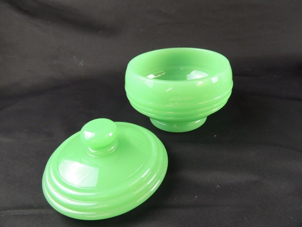 Jadeite Covered Dish - 6