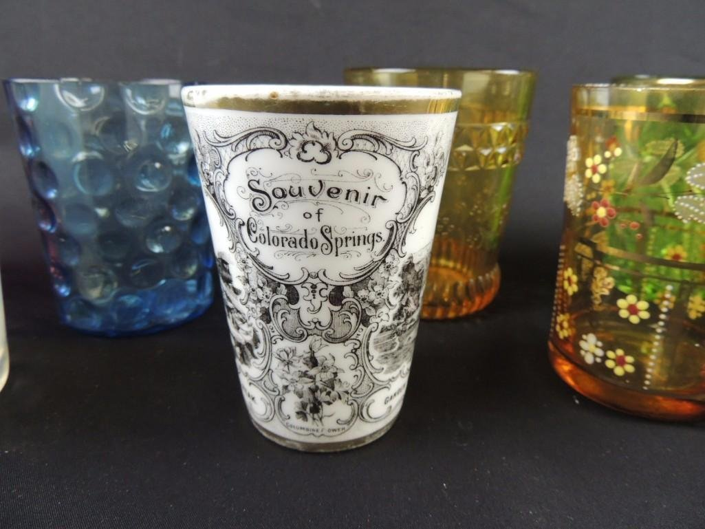 Group of 12 Vintage Glass Tumblers Featuring Coin Dot, - 3